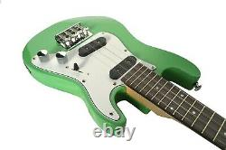 Tenor Ukulele Electric Solid body in Green SC style Guitar by Clearwater