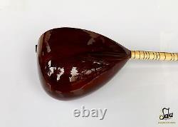 Turkish Quality Long Neck Walnut Baglama Saz For Sale Asl-302g