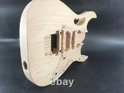 Unfinished 6 string, Jem style Alder guitar body, rear route, HSH, AANJ, A2