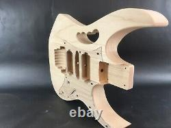 Unfinished 6 string, Jem style Alder guitar body, rear route, HSH, OSNJ, A4