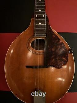 VINTAGE! Beautiful 1907-1917 Gibson A Style 8 String Mandolin WithCase