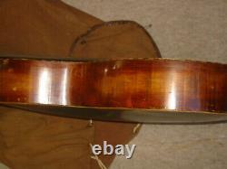 Very old double neck 12string Contra / harp guitar Anton Klein Markneukirchen
