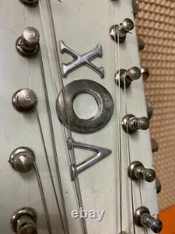 Vintage 1960s Vox Phantom XII 12-String Italian White Hardtail Electric Guitar