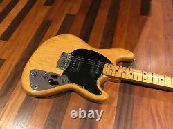 Vintage 1977 Music Man Stingray II natural finish 6 string electric guitar