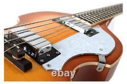 Vintage Electric Bassguitar Violin Bass Beatbass 4 Strings High Polish Sunburst