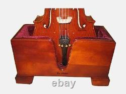 Vio Music Cello Wooden Stand Burgundy Velvet Plush Cushions