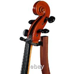 Zither Wooden Cello Stand Mahogany Handcrafted Premium Hardwood Made in USA